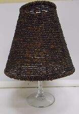 Cone shaped lamp shade ebay kw 49 beaded brown lamp shade cone shaped small boudoir shade vintage glass aloadofball Images