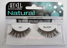 NIB~ Ardell Natural Lashes #107 Fake False Eyelashes Black Fashion
