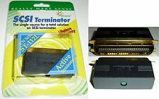 Gold Centronics 50pin/wire Male Active LED Terminator SCSI1/2 HD/Scanner/Backup