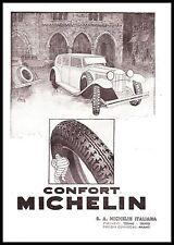 PUBBLICITA' 1932 MICHELIN BIBENDUM GOMME PNEUMATICI AUTO PIAZZA DISEGNO TRENTO