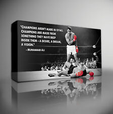 "Muhammad Ali Quote Boxing - XL 40""x20"" FRAMED CANVAS ART PRINT"