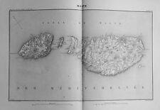 1858c.THIERS. Italia Sud Est.= MALTE - MALTA & GOZO = Isole Maltesi Acciaio.Etna