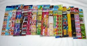 Schoool Supply 180 pc Disney & Cartoon Character Pencil Party Gift Bag Fillers