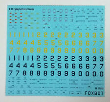 Foxbot 72-032 - 1/72 Decals Stencils for B-17 Fluing Fortress Scale Model