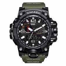 SMAEL Men's Military Sport Waterproof Glow Hands Analog LED Digital Wrist Watch