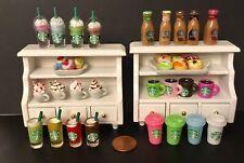 All 6 Pc. Starbucks Drink  Miniature Lot Littlest Pet Shop LPS LOL Free Shipping