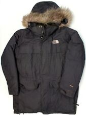 The North Face Hyvent Mens McMurdo Parka XL Black Down Filled Fur Trim Hood Coat