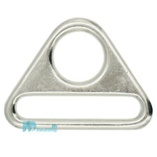 """38 25mm 1"""" 1.5"""" Metal Adjuster Triangle Ring with Bar Swivel Clip D Dee Buckles"""