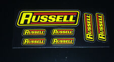Authentic Russell Decals Stickers Sheet