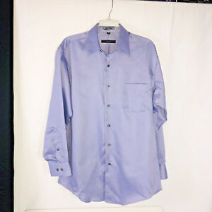 Men's Geoffrey Beene Shirt Large Long Sleeve Wrinkle Free Button Front Purple