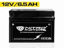 Nitro Motors Blei Gel Akku 12N6.5-BS 12V 6.5Ah Motorradbatterie Roller Quad Atv