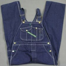 Vintage Key Made In The Usa Denim Bib Overalls Dark Blue 36x30