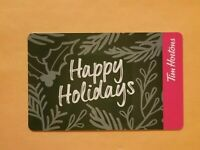 2019 Tim Hortons Happy Holidays Reloadable Gift Card $0 Balance Holly Mistletoe