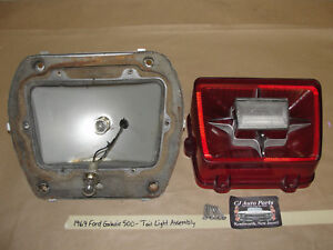 1969 69 Ford Galaxie 500 TAIL LIGHT LENS HOUSING ASSEMBLY REVERSE BACK-UP LIGHT