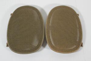 Finish Damage 00-05 Impala Monte Carlo Rear Speaker Grill Covers Dark Honey Tan