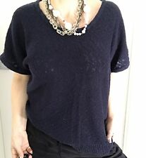 TOMMY HILFIGER WOMENS TOP BLOUSE BLUE COTTON BLEND Knit Sleeveless SZ XL
