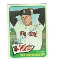 1965 TOPPS AUTOGRAPHED SIGNED AUTO Bill Monbouquette Boston Red Sox