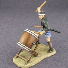 Medieval 1/32 Japanese Ashigaru Drummer with Taiko Drum Painted Tin Soldier 54mm