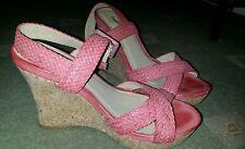 Wedge cork sandals pink NEW