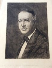 HERMANN STRUCK , Large Original Etching, Alfred (Al) Smith , New York, Signed