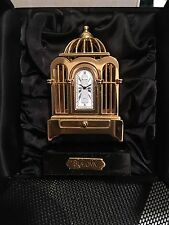 Bulova Miniature Mini Boutique B0011 Voliere Bird Cage Collectible Clock. NEW