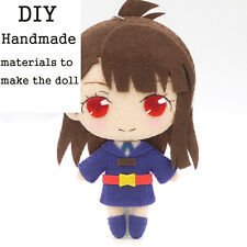 Little Witch Academia Anime DIY Hanging Plush Doll Toy Keychain Bag Cute