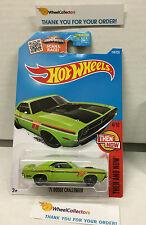'71 Dodge Challenger #104 * Kmart GREEN * 2016 Hot Wheels * F28