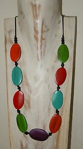 1D314 JEWELLERY HANDMADE WOODEN ADJUSTABLE NECKLACE WOMENS FASHION NEW FREE POST