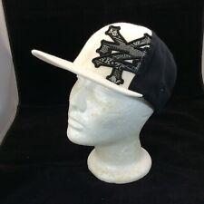 Zoo York Men's Flex Fit Hat Baseball Cap White Black Large XLarge