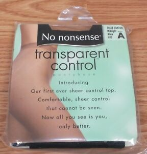 Individual No Nonsense Transparent Control Size A Pantyhose Color of Choice *NEW