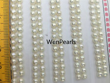 10 pairs AAA 2-2.5mm Seed Button Pearls,real pearl earring material,half drilled