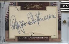 2011 Panini Limited Cuts # 272 Riggs Stephenson Autograph Auto SP # 1/7 Cubs