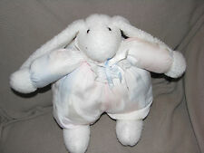 CC C.C. BUNNIES BY DIMENSIONS STUFFED PLUSH PLUMP PASTEL LACE RIBBON BOW BUNNY