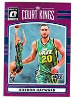 2016-17 Donruss Optic COURT KINGS HOLO PURPLE PRIZM REFRACTOR GORDON HAYWARD