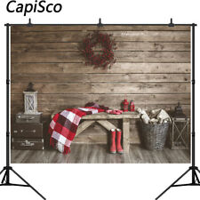 Photography Backdrop Winter Christmas Farmhouse Indoor Decor Backgrounds Props