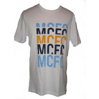 Manchester City Mens Football T Shirt Umbro White Cotton Supporters Tee 2012-13