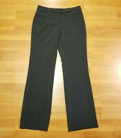 The Limited Womens Cassidy Fit Size 4 Dark Gray Flat Front Wide Leg Dress Pants