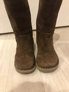 Mini Boden Brown Suede Boots, Infant Size 7 / 24