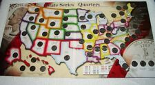 State Series Quarters 1999 - 2009 Coin Collectors Map Album Complete/ 56 Coins