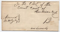 c1840 Monmouth Illinois Manucript Stampless Cover [2544]