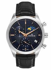 Edox Les Vauberts Chronograph Mondphase Datum Quarz 01655 3 BUIR