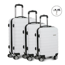Wanderlite 3pc Luggage Trolley Set - White