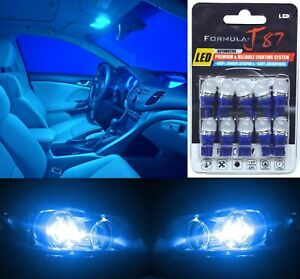 LED 5050 Light Blue 10000K 168 Ten Bulbs Front Side Marker Parking Lamp JDM