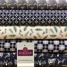 Malva Highland Tartan Scozzese 100% Cotone Craft & Imbottitura Tessuto 114cm
