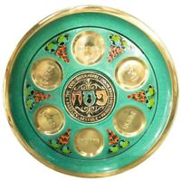 """Vintage 11.75"""" Copper Seder Passover Pesach Plate Wall Hanging Israel Judaica"""