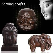 Mini Elephant Buddha Wooden Carved Statue Decoration Handicrafts Ornaments Home