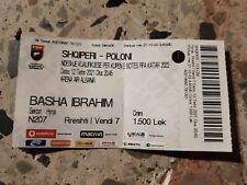 Ticket Quali World Cup WM Shqiperi Albanien Albania - Polska Polen Poland 2021
