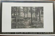 Adirondack RPPC Bald Mountain House Grounds #1, Third Lake, Fulton Chain NY