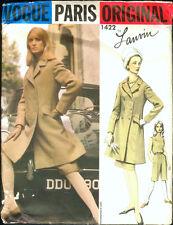 Vintage 60's VOGUE PARIS ORIGINAL 1422 LANVIN COAT*SKIRT*JUMPSUIT Sewing Pattern