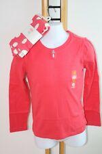 Gymboree Purrfectly Fabulous Girls Size 8 Dot Leggings Coral Shirt Top NWT NEW